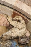 Skulptur von Eagle in der Kathedrale von Trento Stockbilder