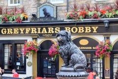 Skulptur von Greyfriars Bobby Lizenzfreie Stockfotos