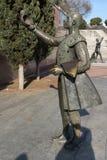 Skulptur vor Las Ventas Bullring Plaza de Toros De Las Ventas in der Stadt von Madrid, Badekurort Lizenzfreies Stockfoto
