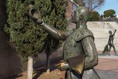 Skulptur vor Las Ventas Bullring Plaza de Toros De Las Ventas in der Stadt von Madrid, Badekurort Lizenzfreie Stockfotografie