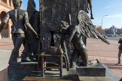 Skulptur vor Las Ventas Bullring Plaza de Toros De Las Ventas in der Stadt von Madrid, Badekurort Stockbilder