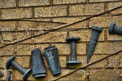 Skulptur, welche die Industrien in Burnley Lancashire feiert Lizenzfreies Stockbild