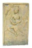 Skulptur wird von einem Stein gebildet Stockfoto