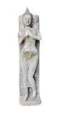 Skulptur wird von einem Stein gebildet Stockfotos