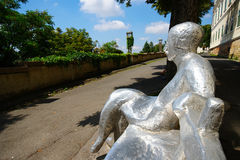 Skulptur Zagreb, Kroatien Arkivfoton