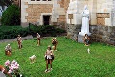 """Skulptural grupp """"helgon Bernadette"""", Fotografering för Bildbyråer"""