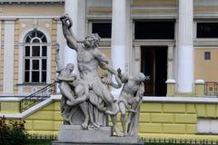 Skulptural grupp Laocoon i Odessa Arkivfoto