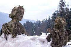 Skulptural sammansättning av den 19th århundrade`en i en snöbad`, Royaltyfria Bilder