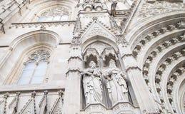 Skulptural sammansättning av den vita stenen Royaltyfri Foto