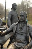 Skulpturala arkitekter för en sammansättning i Alexander Park Royaltyfri Foto