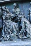 Skulpturala gruppstatsmän på monumentmilleniet av Ryssland, Veliky Novgorod, Ryssland Fotografering för Bildbyråer