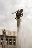 Skulpturala komplexa Manas. Bishkek Kirgizistan arkivfoto