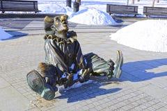 Skulpturclown Royaltyfri Foto