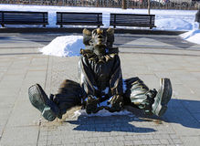Skulpturclown Arkivfoton