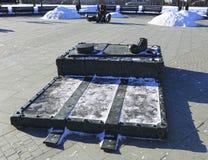 Skulpturclownstützen lizenzfreies stockbild