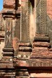 Skulpturdetails Htilominlo-Pagode Bagan myanmar Stockfotos