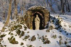 Skulpturegodsdienst stock foto's