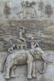 Skulpturelefanter arkivbilder
