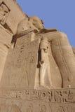 Skulpturen an Abu Simbel-Tempeln in Ägypten Stockfotos