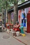 Skulpturen in 798 Art District in Peking Stockfotos