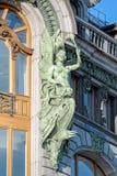 Skulpturen auf der Fassade des Sängers House, St Petersburg, Russ Lizenzfreies Stockbild
