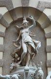 Skulpturen auf Michaelerplatz Brunnen Stockfotografie