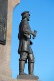 Skulpturen av den Yaroslavl köpmannen Fragment av monumentet i heder av den 1000. årsdagen av Yaroslavl Royaltyfria Bilder