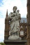Skulpturen av domkyrkan för St Fermis i Mysore av Indien Arkivfoton