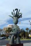 Skulpturen av spåman på den marin- fyrkanten i Alicante Royaltyfri Fotografi