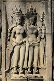 Skulpturen bei Angkor Wat stockbilder