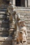 Skulpturen in der alten Stadt Stockbilder
