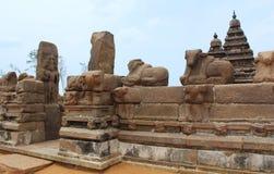 Skulpturen des alten Tempels Stockfotografie