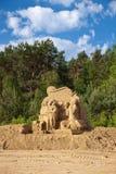 Skulpturen gebildet vom Sand Lizenzfreie Stockbilder