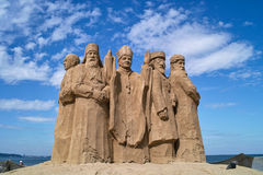 Skulpturen gebildet vom Sand. Lizenzfreie Stockfotos