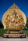 Skulpturen i vietnamesisk kloster arkivbilder