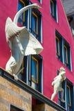 Skulpturen Leda och svanen i Horb på Neckaren Royaltyfria Foton