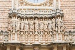 Skulpturen in Montserrat-Kloster. Spanien Lizenzfreie Stockfotografie