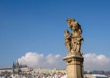 Skulpturen in Prag Stockbild