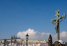 Skulpturen in Prag Lizenzfreies Stockfoto