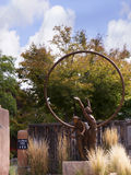 Skulpturen in Santa Fe die Kapitolstadt des New Mexiko Lizenzfreie Stockbilder