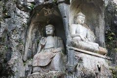 Skulpturen von Buddhas Stockfotografie
