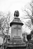 Skulpturen von Pere Lachaise Cemetery Paris lizenzfreie stockfotografie
