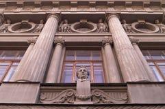 Skulpturer arkitektur Arkivbild