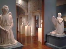 Skulpturer av änglar Cincinnati Art Museum KY USA arkivfoton