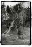 Skulpturer av Borjomi: Lejonet och Prometheusen royaltyfri foto