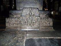 Skulpturer av den Chenna Keshava templet på Belur fotografering för bildbyråer