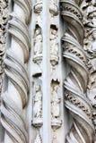 Skulpturer av San Fortunato i Todi, Italien arkivfoto