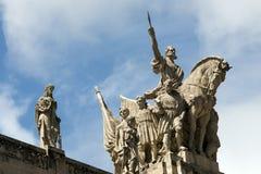 Skulpturer av slotten Tiradentes i Rio, Brasilien royaltyfria foton