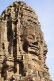Skulpturer Bayon Arkivfoto