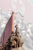 Skulpturer för Nordkorea ` s Royaltyfria Bilder